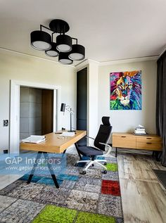 Compact study area Contemporary Home Offices, Contemporary Style, Study Areas, Study Space, Zones D'étude, Floor Desk, Compact, Interior Photography, Study Office