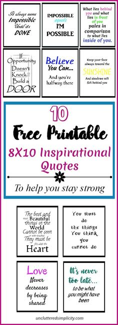 free printable inspirational quotes | free 8X10 printable quotes | printable wall art | inspirational quotes via @CherylLemily