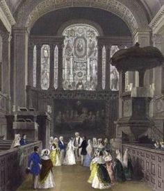 Regency Wedding, St George, Hanover Square. Lavish large weddings for the aristocracy did not become the style until Victorian times.