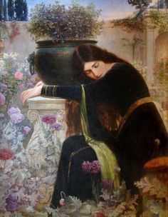 enchantedsleeper:  Isabella and the Pot of Basil, George Henry Grenville Manton (1855 – 1932)