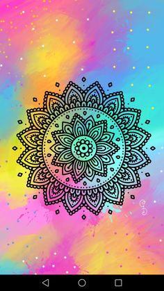 Mandala Doodle, Mandala Drawing, Mandala Painting, Cute Patterns Wallpaper, Cute Wallpaper Backgrounds, Wallpapers, Doodle Art Designs, Indian Folk Art, Zen Art