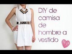 DIY Cómo hacer un vestido de una camisa http://ini.es/1t9x3Cd #CómoHacerUnVestido, #DIY