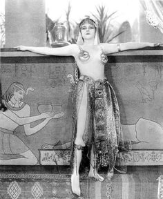 Theda Bara as Cleopatra  (J. Gordon Edwards, 1917) This film, like the majority of silent films, is lost to us. Only a few fragments have survived.