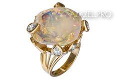 Перстень кольцо с Опалом №02239PE