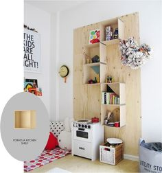 modern wall shelf ideas for kids room