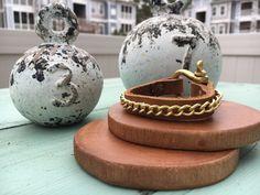 Single Wrap Amber Leather and Chain by HidebyDiamondandDirt