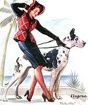 """""""A Perfect Pair"""", undated by Gil Elvgren  #151"""