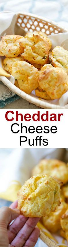 Cheddar Cheese Puffs - French puff pastry loaded with cheddar cheese and chopped scallions, so buttery, cheesy, yummy and easy to make! | http://rasamalaysia.com