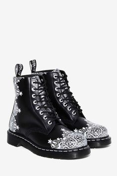 Dr. Martens 8-Eye Leather Boot - Pascal Lace - Boots + Booties | The Ice Queen | All Gifts | Last Chance | Best Sellers