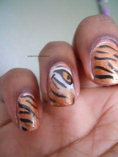 Tiger Nail Art by ZombieKittyNails on deviantART | Hair & Beauty ...