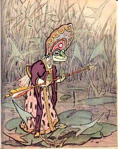 Evgenii Rachev, an illustration for Russian folk tales Book Page Art, Fable, Russian Art, Russian Folk, Book Illustration, Art Illustrations, Illustrators, Folk Art, Fairy Tales