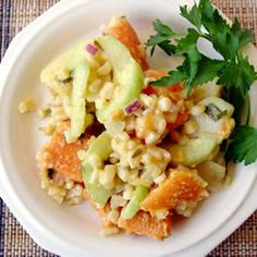 Caribbean Sweet Potato Salad; strange combination of ingredients, but it turned out tasting great!
