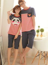 Men's Pajama Sets Impartial Summer Short-sleeve Lovers Sleepwear Womens Or Mans Autumn Sexy Silk Thin Shorts Male Lounge Pajamas