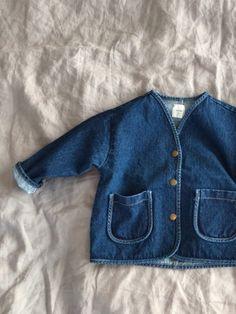 상품대표이미지 Sewing Kids Clothes, Sewing For Kids, Baby Sewing, Toddler Fashion, Kids Fashion, Denim Button Up, Button Up Shirts, Girls Wear, Kind Mode