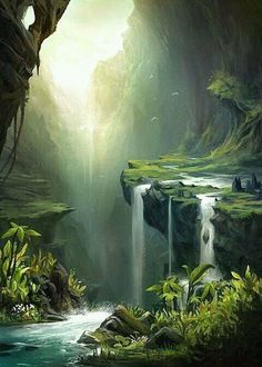 I want to runaway and end up here landscape art, fantasy landscape, fantasy trees Fantasy Places, Fantasy World, Fantasy Forest, Magic Forest, Fantasy Trees, Forest Art, Fantasy Landscape, Landscape Art, Fantasy Art Landscapes