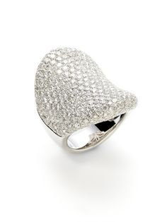 I MUST have Pave!!!     White Gold & Pave Diamond Concave Shield Ring by Vendoro on Gilt.com