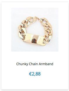 Chunky Chain Armband € 2,88 www.ovstore.nl/nl/meer-categorieen/sieraden/hangers-armbandjes