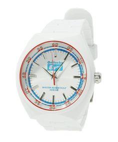 白地に青赤がさわやかな腕時計。 Onitsuka Tiger accessories