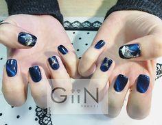 Nail Art of Whale(Orca)! #nail #nails #nailart #nailpolish #naildesign #manicure #nailstagram #nailsalon #instanails #nails2inspire #ネイル #beautiful #gelnail #gelnails #polish #naildesigns #pretty #girl #whale #deepblue #golden #cateye #orca