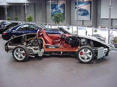 Porsche Boxster 986 cutaway view