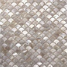 Handmade White Fish Scale Mother of Pearl Mosaic Tile For | Etsy Room Tiles, Wall Tiles, Shower Backsplash, Kitchen Backsplash, Countertop, Fish Scale Tile, Kitchen Shower, Walk In Shower Designs, Tuile