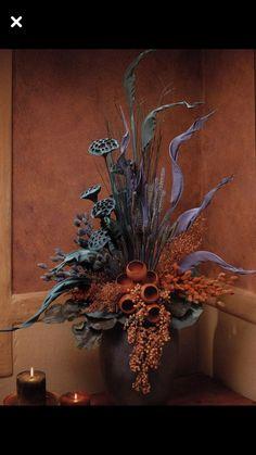 Ищу оригинал Fall Floral Arrangements, Dried Flower Arrangements, Dried Flowers, Silk Flowers, Flower Installation, Rustic Flowers, How To Preserve Flowers, Arte Floral, Plant Decor