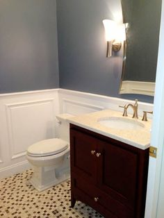 furniture & furnishing antique powder room interior design