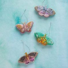 Jeweled Moth Ornamen