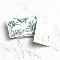 Business cards I'm working on for a #swimwear brand