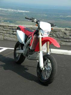 Honda CRF450x converted to supermoto.