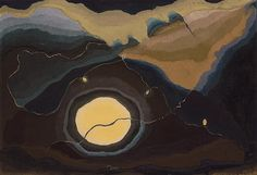 Arthur Dove I Me and the Moon (1937). Wax emulsion on canvas. 18 x 26 in.