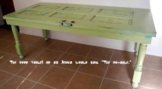 DIY Table from an old door!