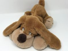 "Russ Berrie Plush Brown Samuel Hound Dog Stuffed Animal Toy Long Ears 14"" #RussBerrie"
