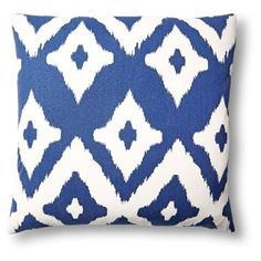 Check out this item at One Kings Lane! Del Mar 20x20 Cotton Pillow, Navy