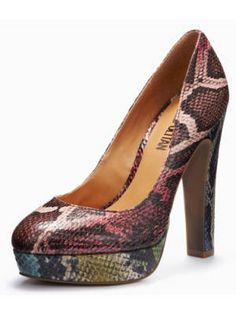 We love the mismatched faux snakeskin on this classically shaped pump. Just $37!