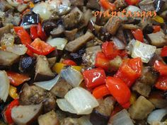 ora, pitangas!!!: caponata de berinjela do nick Pot Roast, Food And Drink, Appetizers, Pasta, Adora, Ethnic Recipes, Tasty Food Recipes, Health Recipes, Pickled Eggplant