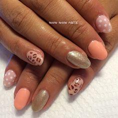Aileen's nail design! #polkadots #leopardprint #nailart #naildesign #nailporn #nailjunkie #nailgasm #nailsdid #notd #wowwownails #toronto