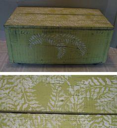 Fern stencilled painted furniture