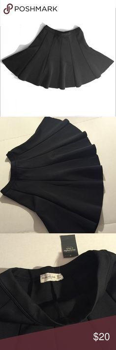 Skater skirt mini size S Abercrombie&Fitch Black skirt - skater skirt / I have size S & XS in my listing /  new with tags/ high waist style- (sisters I have S&XSskirts same -or twins) Abercrombie & Fitch Skirts Mini