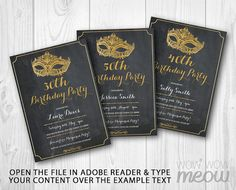 5 x 7 inch INSTANT DOWNLOAD customizable Birthday PDF invite. > Edit the text instantly at home using the FREE program Adobe Reader. > Print at