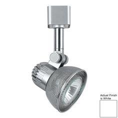 Cal Lighting 1-Light White Roundback Linear Track Lighting Head Ht-970
