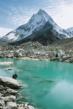 This is a pic in the #IndianHimalayas close to the source of the Ganges River. Cool!