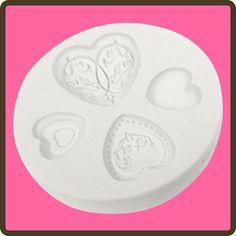 Elegant Hearts Impression Mould by Katy Sue Designs