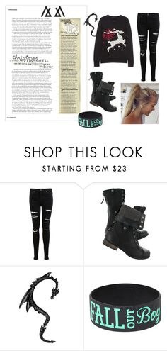 """""""christmas in black"""" by kristin-k1234 on Polyvore featuring Miss Selfridge"""
