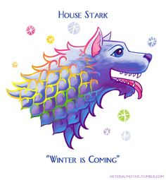 Westeros is known for being a bleak and chilly place, but just imagine if Lisa Frank -- the '90s queen of sparkly school supplies -- was a resident of the North.