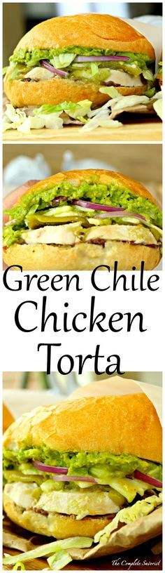 Green Chile Chicken Tortas ~ Mexican-style sandwiches loaded with chicken, green chile peppers, refried black beans, cheese, and avocado spread. Dog Recipes, Chicken Recipes, Cooking Recipes, Healthy Recipes, Sandwich Recipes, Sandwich Buffet, Breaded Chicken, Mexican Dishes, Gastronomia