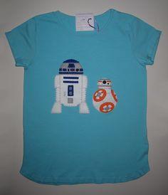 cocodrilova: camiseta starwars: r2d2 y bb8   #camiseta #starwars #r2d2 #bb8