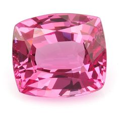 "Pink spinel, like this beautiful blush spinel cushion weighing 1.21 cts, is too rare to be considered for high-volume jewelry manufacturing, but it as an ideal gemstone for custom jewelry. Strikingly clean, free of inclusions, with a hardness of 8 and no cleavage planes, spinel is a tough and durable gemstone suitable for everyday ""never take off"" rings."