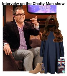 """""""Interview on the Chatty Man show"""" by grace-food-lover ❤ liked on Polyvore featuring TIBI and HOWSTY"""