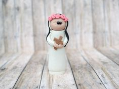 St. Rose of Lima, ornament, rearview mirror, saint statue, St. Rose, Lima, Confirmation gift, Baptism gift, Catholic gift, saint gift
